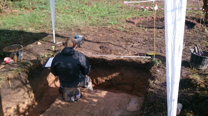 Lots of section drawing underway in Trench 2.