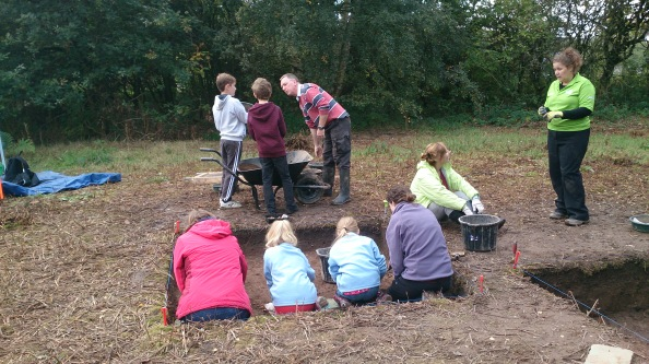 Here our home-schoolers are helping excavate Trench 4