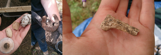 Some of the finds from the first week of excavation